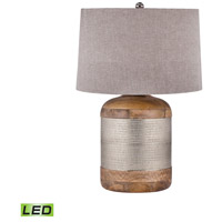 Dimond Lighting 8983-021-LED Signature 29 inch 9.5 watt Mango Wood and German Silver Table Lamp Portable Light in LED