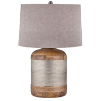 Dimond Lighting 8983-021 Signature 29 inch 150 watt Mango Wood and German Silver Table Lamp Portable Light in Incandescent