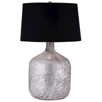 Dimond Lighting Jug 1 Light Table Lamp in Silvered Antique Mercury Glass with Black Linen Shade 8983-022