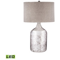 Dimond Lighting 8983-023-LED Tapered Mercury Glass Jug 32 inch 9.5 watt Antique Mercury Table Lamp Portable Light in LED