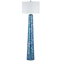 Aphrodisia 62 inch 100 watt Turquoise Mosaic Floor Lamp Portable Light