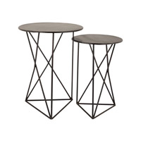 Lazy Susan by Dimond Lighting Set of 2 Geometric Tables in Black 8985-052/S2