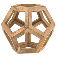 Signature Woodtone Sculpture, Honeycomb Orb