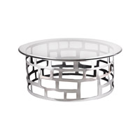 Organic Cutouts 46 X 46 inch Polished Aluminium Table Home Decor