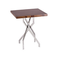 Dimond Home Stick Leggy Side Table in Sheemsham Wood and Stainless Steel 8987-011
