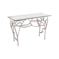 Lazy Susan by Dimond Lighting Metropolitan Console Table in Polished Nickel 8987-014