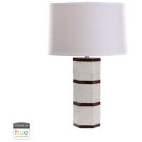 Dimond Lighting 8989-008-HUE-B Signature 25 inch 60 watt White Marble with Wood Tone Table Lamp Portable Light
