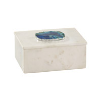 Dimond Home Stone Box in Marble and Blue Agate and Silver 8989-010