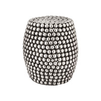 Lazy Susan by Dimond Lighting Pebble Stool in Pewter Antique 8990-024