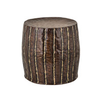 Dimond Home Copper with Welded Fluteds Stool in Copper and Brass 8990-026