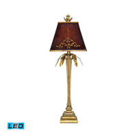Dimond Lighting Draping Leaf 1 Light Table Lamp in Gold Leaf 91-078-LED