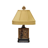 Dimond Lighting Carved Block 1 Light Table Lamp in Blue Springs 91-224