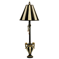 Dimond Lighting Carnival Stripe 1 Light Table Lamp in Black / Antique White 91-234