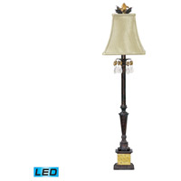 Dimond Lighting 91-267-LED Acorn Drop 37 inch 13.5 watt Black / Era Gold Table Lamp Portable Light in LED
