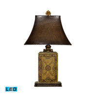 Dimond Lighting Embossed Block 1 Light Table Lamp in Elmsford 91-316-LED