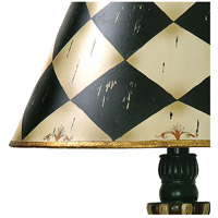 Dimond Lighting 91-342 Harlequin And Stripe Urn 29 inch 150 watt Black / Antique White Table Lamp Portable Light in Incandescent alternative photo thumbnail