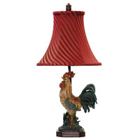Dimond Lighting Crowning Rooster 1 Light Table Lamp in Barnyard 91-344