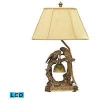 Twin Parrots 25 inch 13.5 watt Atlanta Bronze Table Lamp Portable Light in LED