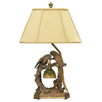 Dimond Lighting 91-507 Twin Parrots 25 inch 100 watt Atlanta Bronze Table Lamp Portable Light in Incandescent