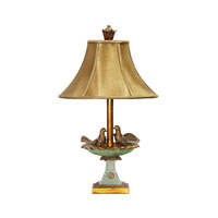 Dimond Lighting Love Birds In Bath 1 Light Table Lamp in Gold Leaf / Grantsmoth Green 91-786