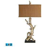 Dimond Lighting 91-840-LED Driftwood 35 inch 13.5 watt Silver Leaf Table Lamp Portable Light in LED