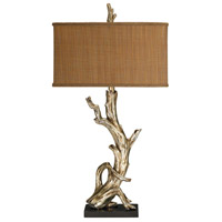 Dimond Lighting Driftwood 1 Light Table Lamp in Silver Leaf 91-840