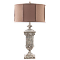 Dimond Lighting Morgan Hill 1 Light Table Lamp in Distressed White 93-029