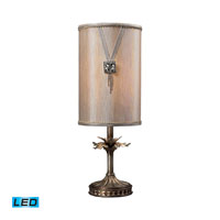Dimond Lighting Yuttan 1 Light Table Lamp in Antique Silver 93-10009-LED