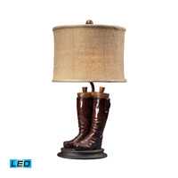 Dimond Lighting Wood River 1 Light Table Lamp in Polished Tan 93-10012-LED