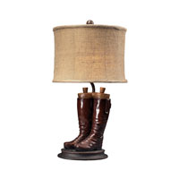 Dimond Lighting Wood River 1 Light Table Lamp in Polished Tan 93-10012
