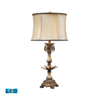 Dimond Lighting Newman Grove 1 Light Table Lamp in Sussex Stone With Gold 93-10023-LED