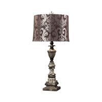 Dimond Lighting Westpoint 1 Light Table Lamp in Herringbone 93-10028