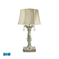 Silver Fontaine 35 inch 13.5 watt Table Lamp Portable Light