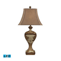 Dimond Lighting Normandie Hill 1 Light Table Lamp in Genesse Distressed Wood 93-9117-LED
