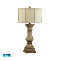 Dimond Lighting Cahors View 1 Light Table Lamp in Monkstown Distressed Beige 93-9121-LED