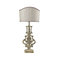 Dimond Lighting Avignon 1 Light Table Lamp in Avignon White 93-9141
