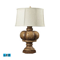 Dimond Lighting Eden Roc 1 Light Table Lamp in Burnt Oak 93-9187-LED