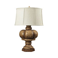 Dimond Lighting Eden Roc 1 Light Table Lamp in Burnt Oak 93-9187