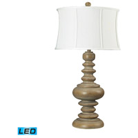 Moniac 36 inch 13.5 watt Bleached Wood Table Lamp Portable Light in LED