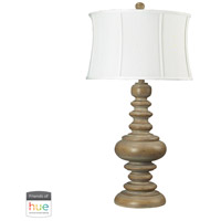 Moniac 36 inch 60 watt Bleached Wood Table Lamp Portable Light