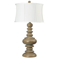 Dimond Lighting Moniac 1 Light Table Lamp in Bleached Wood 93-9244