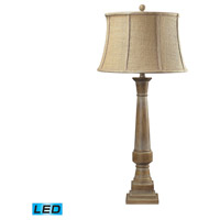 Lyerly 37 inch 13.5 watt Bleached Wood Table Lamp Portable Light in LED