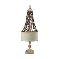 Dimond Lighting Rockyford 2 Light Table Lamp in Bleached Wood W/ Dark Shell 93-9251 photo thumbnail