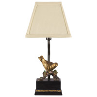 Perching Robin 15 inch 15 watt Table Lamp Portable Light