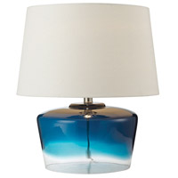 Dimond Lighting Macaw Well 1 Light Boutique Table Lamp in Blue and Clear 979002