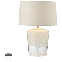 Dimond Lighting 979005-HUE-D Flurry Frit Well 25 inch 60 watt Clear with White Boutique Lamp Portable Light