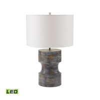 Dumbell 23 inch 9.5 watt White Washed Grey Table Lamp Portable Light in LED