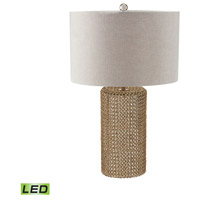 Chain Mail Raindrop 24 inch 9.5 watt Gold Table Lamp Portable Light in LED