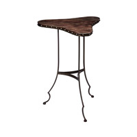 Dimond Home Clover Accent Table in Dark Brown and Oil Rubbed Bronze Mango Wood and Metal 983-011