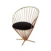 Iron Taper Wire Gold and Black Chair Home Decor